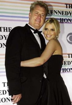 Papa Joe Simpson and Jessica Simpson