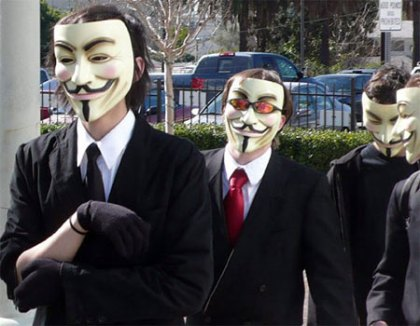 V for Vendetta Scientology protestors