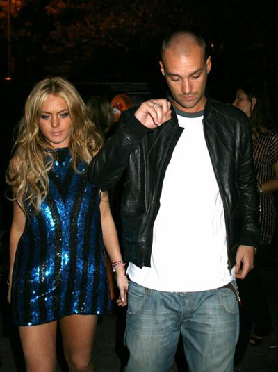 Lindsay Lohan and Calum Best