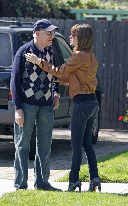 Rachel Bilson with an old man 1